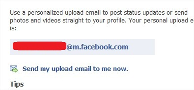 Your current Facebook Upload Email address